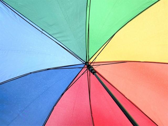 傘の布部分にサビ汚れが付着して茶色くなった汚れの落とし方2138